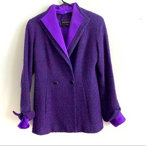 DONATELLA Purple Pea Coat